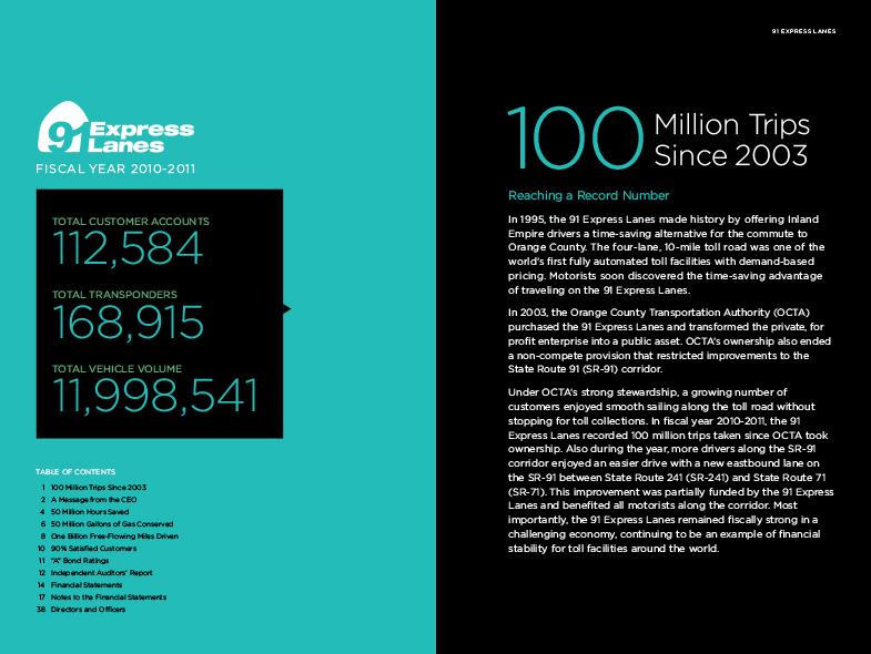 91 Express Lanes Annual Report – Luis Alvarado Design