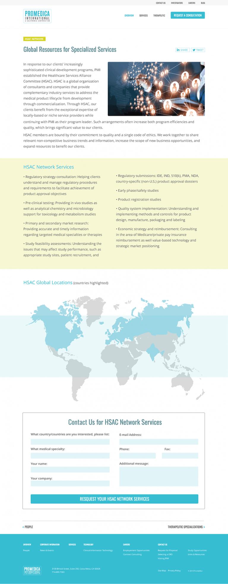 Promedica International Website